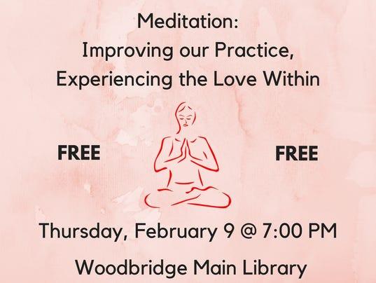 Heartbeats: Program on meditation on Feb. 9 PHOTO CAPTION