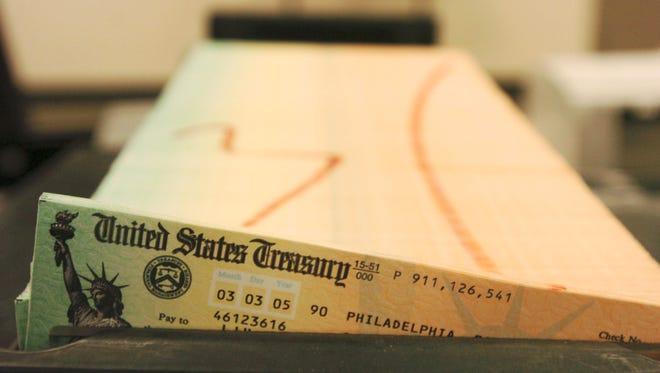 A Social Security check