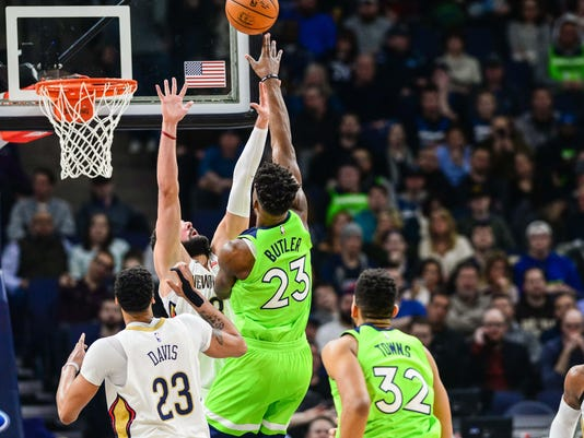 NBA: New Orleans Pelicans at Minnesota Timberwolves