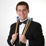 Des Moines Symphony principal percussionist Aaron Williams shone on Marimba Concerto No. 2 on Saturday.
