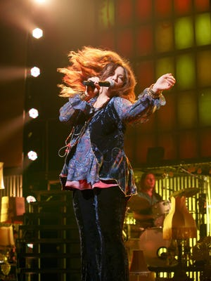 """Mary Bridget Davies plays the title role in """"A Night with Janis Joplin,"""" which comes to the Mayo Performing Arts Center on Thursday, Feb. 25. Davies, who was nominated for a Tony for the role, performs such songs as """"Cry Baby,"""" """"Me and Bobby McGee,"""" and """"Piece of My Heart."""""""