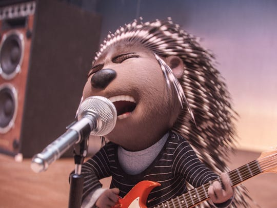 """Ash is a punk-rock porcupine in """"Sing."""""""