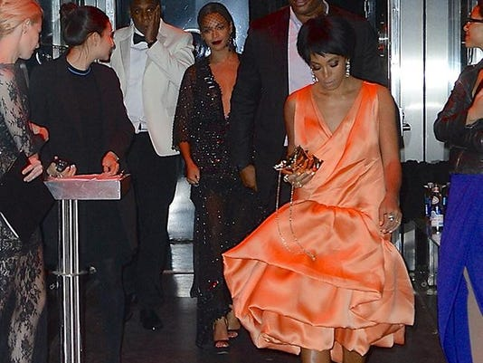 Solange, Beyonce and Jay Z leave Met Gala party