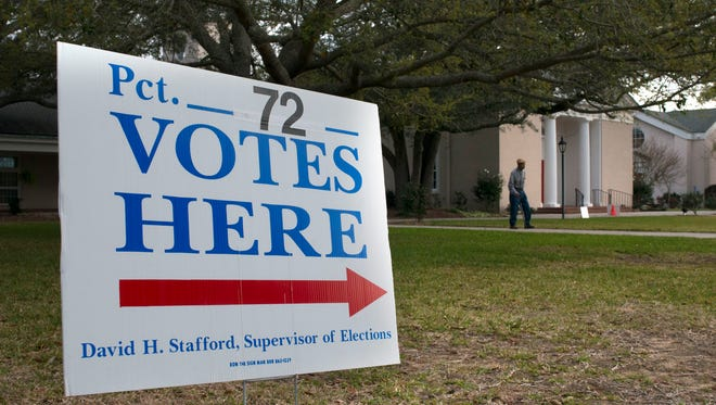 The polls are open for the Presidential primary in Escambia, Santa Rosa and the rest of Florida today.