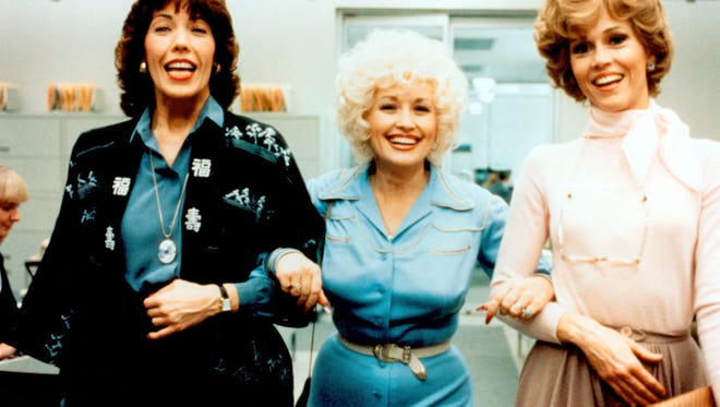 "Aug. 4: Violet (Lily Tomlin, from left), Doralee (Dolly Parton) and Judy (Jane Fonda) have to fight off sexual harassment and discrimination in 1980's ""9 to 5."" © IPC Films/20th Century Fox"