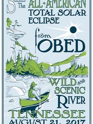 Commemorative posters have been made for eclipse viewing