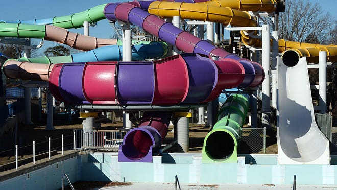 The last of five people accused of damaging water park slides at Waldameer Park & Water World by riding skateboards on them in April agreed in court on Tuesday to jointly pay $10,000 in restitution to the park.