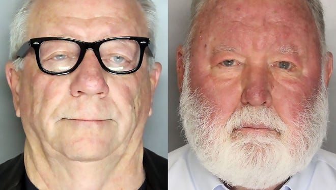 Michael Lacey, left, and Jim Larkin are two of seven former and present Backpage executives who were indicted April 6, 2018,  in a 93-count indictment alleging that the classified-advertising website operated as a thinly veiled brothel.