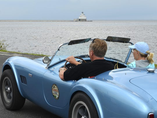 More than a dozen Shelby Cobras boarded the S.S. Badger car ferry Thursday in Manitowoc as part of their week-long tour around Lake Michigan.