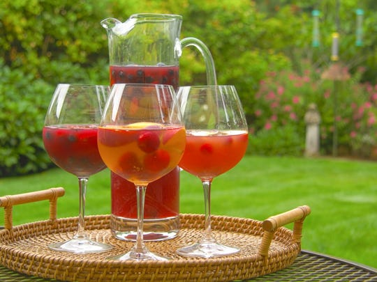 Use frozen berries or fruit in a refreshing sangria.