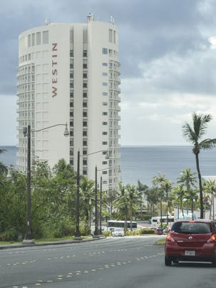 The Westin Resort Guam is pictured on a cloudy day