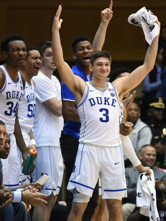 NCAA Basketball: Evansville at Duke
