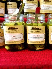 Pickles from Boutin Family Farm in Williston deck a