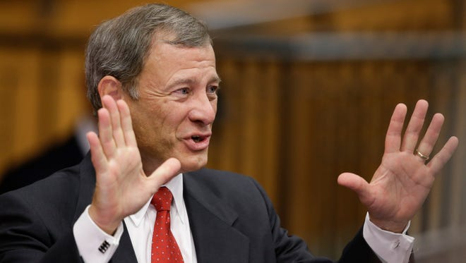 Supreme Court Chief Justice John Roberts wrote a 5-4 opinion allowing states to restrict fundraising by judicial candidates.