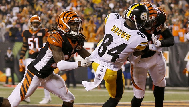 Cincinnati Bengals safety George Iloka was fined over $36,000 for this hit on Antonio Brown.