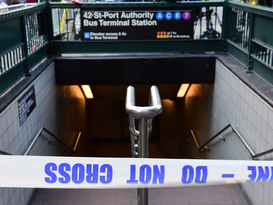 The subway was closed after the bombing near the Times