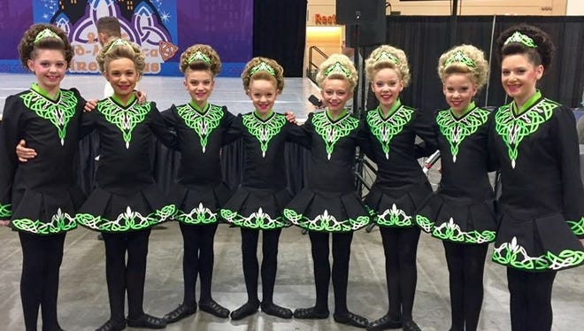 Dancers from left: Ellie Avery, Caroline O'Mahoney, Eleanor Esterle, Reagan Fulcher, Delaney Lindner, Sophia Blickenstaff, Isabella Blickenstaff and Karley Fulcher.
