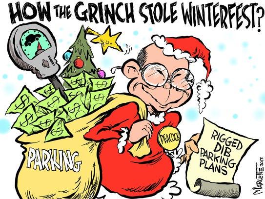Marlette cartoon: Parking: The DIB's downtown debacle!