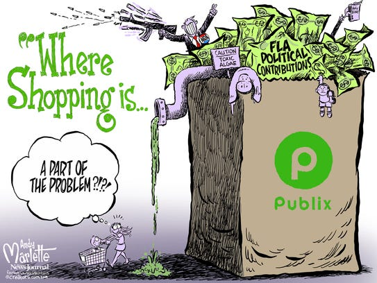 Publix has been contributing to the sick and sad world
