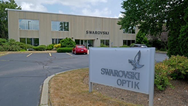 The Swarovski Optik building at 2 Slater Road in Cranston.
