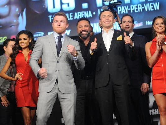 Canelo Alvarez & Gennady Golovkin Press Tour - New York