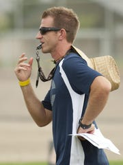 Central Valley Christian football coach Mason Hughes is entering his ninth year for the Cavaliers.