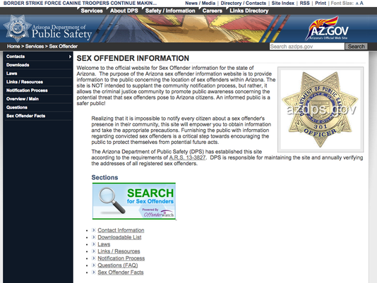 arizona sex offender registration rules