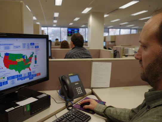 A researcher simulates a check done for the National