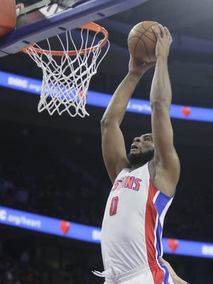 Pistons' Andre Drummond is eligible for a max contract extension this summer.