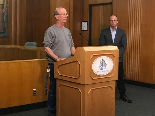 Entomologist John Ball and Parks Dir. Don Kearney discuss the emerald ash borer that's been discovered in Sioux Falls, the first confirmed case of the invasive insect in state history.