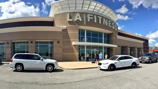 A person was stabbed inside an L.A. Fitness gym in Lawrence Tuesday afternoon, July 21, 2015.