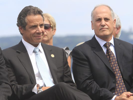 Gov. Andrew Cuomo and Larry Schwartz