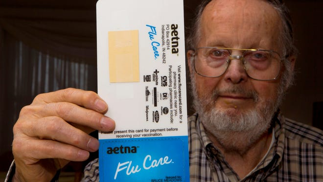 The flu shot card Aetna sent to Bruce Meadows of Mason was actually a prepaid card from Citi.