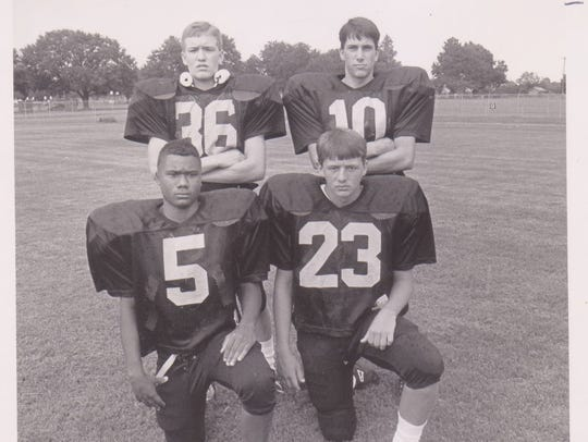 The 1992 Church Point Bears' secondary included Mike