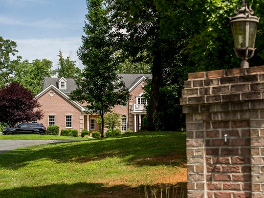 The home of Simon Tusha, a former Google executive who pleaded guilty to one count of conspiracy to defraud the United States in an international bribery case, in Forest Hill, Md. on Wednesday afternoon. The home is listed for sale at $1.45 million.
