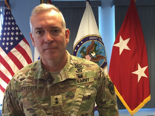 Maj. Gen. Kurt S. Crytzer, commander of Joint Task Force North, was recently promoted. He talked about his goals for his command and his desire to stay on at Fort Bliss.