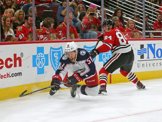 NHL: Preseason-Columbus Blue Jackets at Chicago Blackhawks