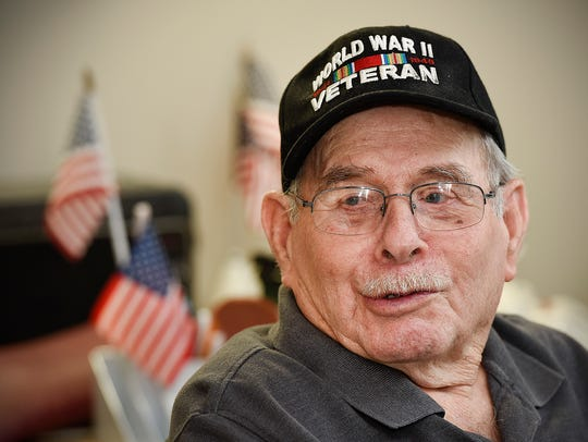World War II veteran Gerald Olson, 89, talks about