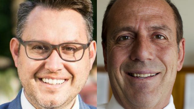 Kevin Patterson (left) is challenging incumbent Sal DiCiccio for the Phoenix City Council District 6 seat.