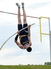 Algonac's Mitchell Mueller competes during the 2013 season. He was a staet champion in the pole vault in 2014.