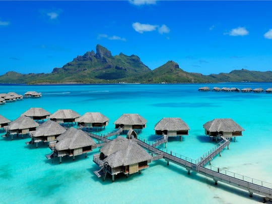 Four Seasons Bora Bora has 100 gorgeous overwater bungalows.