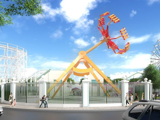A rendering of a proposed new ride for Playland park.