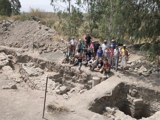 The archeological team at the excavation site in northern