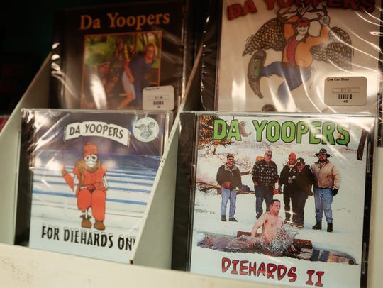 CDs from the musical comedy group Da Yoopers are sold