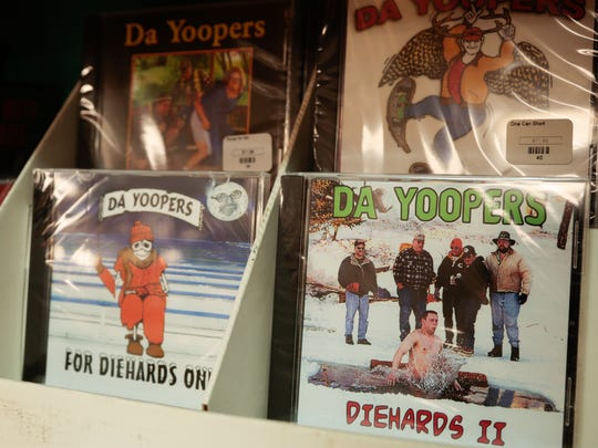 CDs from the musical comedy group Da Yoopers are sold at Da Yoopers Tourist Trap.