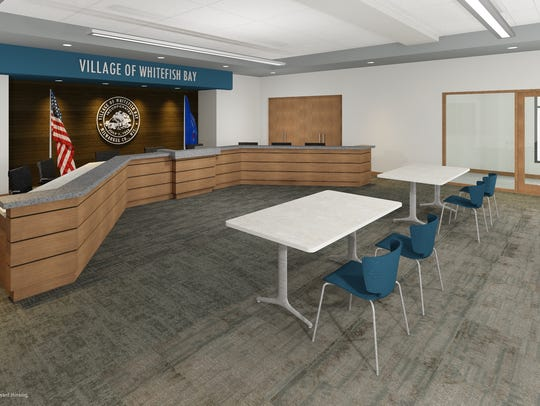 The Whitefish Bay Village Board meeting room will be
