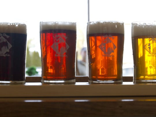 Some of the beers offered by Little Dog Brewing Co., Neptune City.
