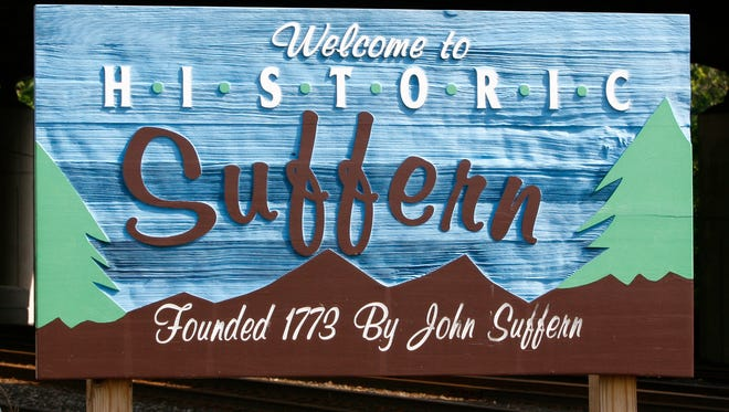 A sign on Orange Avenue welcomes visitors to Suffern, June 28, 2006.