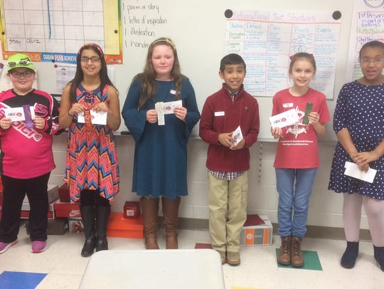 Winners and finalists in the fifth grade division of
