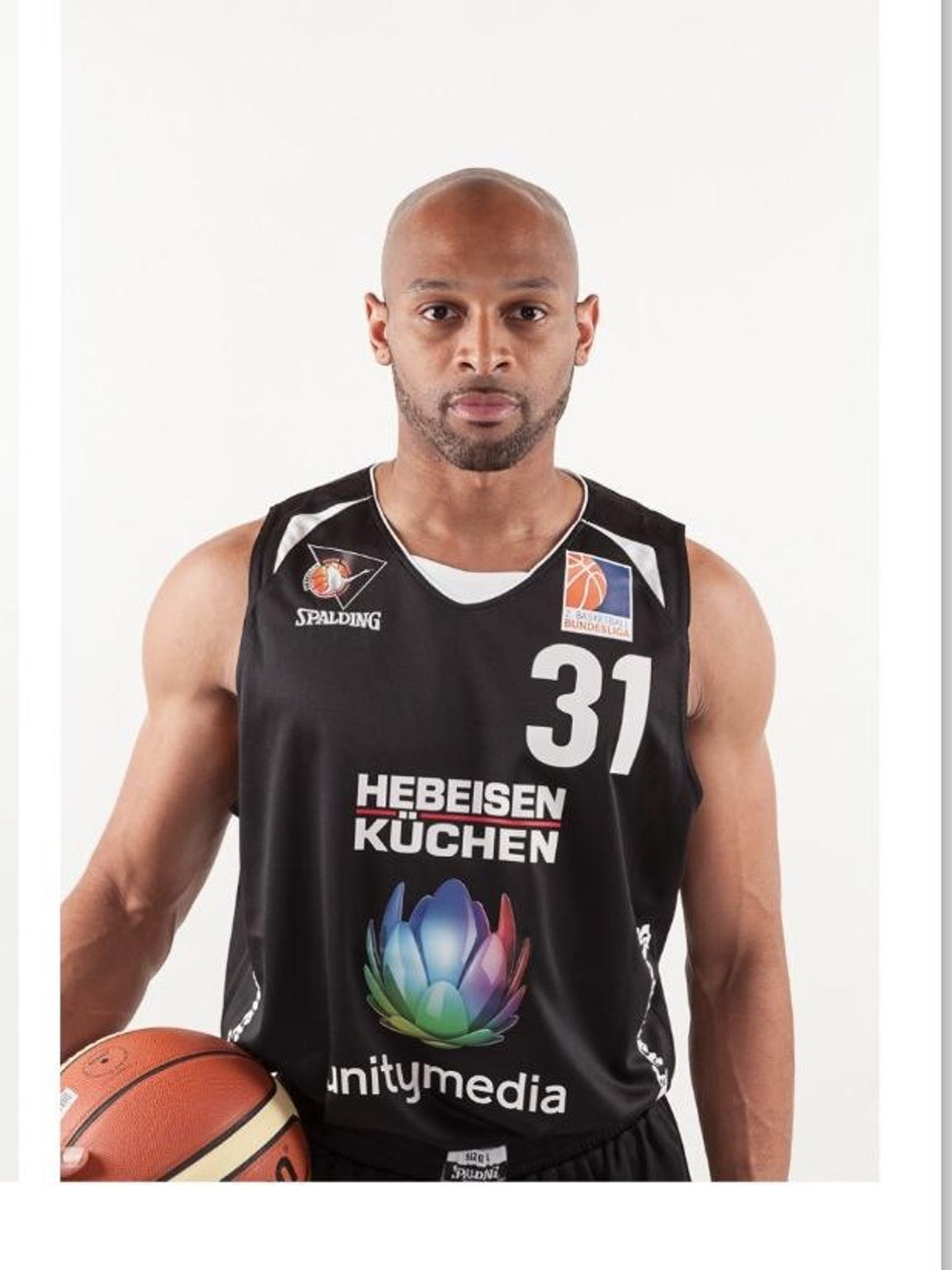 Cardell McFarland during his days playing pro basketball in Europe.